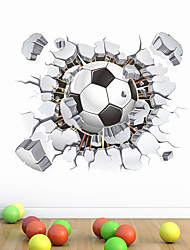 cheap -3D Football Wall Stickers Living Room Kids Room Kindergarten Removable PVC Home Decoration Wall Decal 1pc