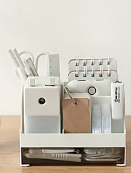 cheap -Desktop Storage Box Drawer Student Creative Office Table Storage Bucket Plastic Pen Holder 16*11.5*10.7cm