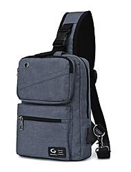 cheap -Men's Bags Oxford Cloth Nylon Sling Shoulder Bag Zipper Daily Outdoor 2021 Tote Baguette Bag Blue Gray Black