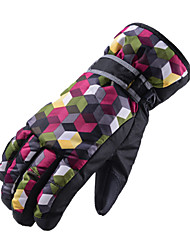 cheap -Ski Gloves Snow Gloves for Men Thermal Warm Waterproof Windproof PU Leather Full Finger Gloves Snowsports for Cold Weather Winter Skiing Snowboarding