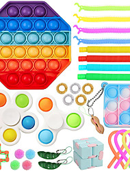 cheap -Sensory Fidget Toy Set for Kids Adults 30 Pack Autism Special Needs Stress Reliever Silicone Stress Reliever Toy Gift Educational School Game Crafts for Children Teen