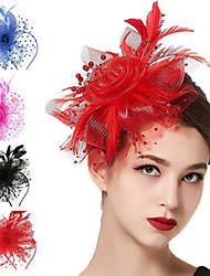 cheap -Retro Stage Performance Headdress Bride Prom Veil Cheongsam Show Top Hat Evening Dress Women's Veil Mesh