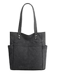 cheap -Women's Bags Canvas Top Handle Bag Zipper Daily Outdoor 2021 Tote Handbags Purple Gray White Black
