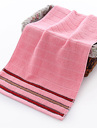 cheap -1 Pc 100% Cotton Premium Ring Spun Hand Kitchen Shower Towel(Set) Machine Washable Super Soft Highly Absorbent Quick Dry For Bathroom Hotel Spa Stripe 34*75cm
