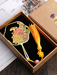 cheap -Inspirational Creative Colored vintage flowers fan Bookmarks for Women Page Markers for Students Teachers Reading