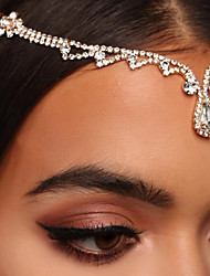 cheap -1 PCS Diamond-studded Drop-shaped Flower Hairpins European And American Fashion Palace Style Hair Accessories Exaggerated Temperament Ladies Personality Pendant Headdress
