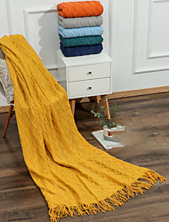 cheap -Blankets  Throws, Solid Colored Acrylic Fibers Warmer Soft Comfy Blankets
