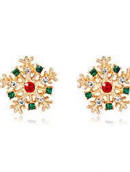 cheap -Women's Stud Earrings Crystal Earrings 3D Holiday Fashion Fashion Gold Plated Earrings Jewelry Rainbow color For Christmas Halloween Party Evening Gift Festival 1 Pair