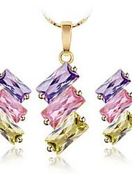 cheap -Women's Synthetic Diamond Jewelry Set Earrings Jewelry Rainbow For Street Gift Formal
