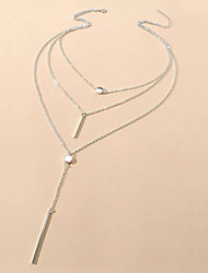 cheap -Women's Necklace Classic Joy Simple Natural European Sweet Alloy Silver 45 cm Necklace Jewelry 1pc For Anniversary Sport Masquerade Birthday Party Festival