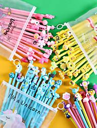 cheap -20Pcs/Set Gel Pen Unicorn Pen Stationery Kawaii School Supplies Gel Ink Pen School Stationery Office Suppliers Pen