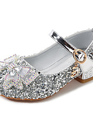 cheap -Girls' Heels Cosplay Princess Shoes Rubber PU Cartoon Design Air Mattresses / Air Shoes Non Slip Sequins Little Kids(4-7ys) Big Kids(7years +) Daily Party & Evening Walking Shoes Rhinestone Bowknot