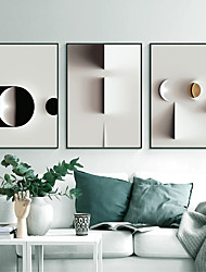cheap -Wall Art Canvas Prints Painting Artwork Picture Abstract Faux 3D Geometric Home Decoration Decor Rolled Canvas No Frame Unframed Unstretched