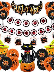 cheap -Halloween Aluminum Film Balloon Decoration Arrangement Ghost Festival Ghost Skull Pumpkin Bat Aluminum Foil Balloon