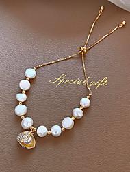 cheap -Women's Bead Bracelet Beads Cat Eye Stylish 18K Gold Plated Bracelet Jewelry White For Wedding Date Festival