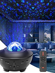 cheap -Night Light Projector Galaxy Projector  Sky Projector Lamp with Remote Control 2 in 1 Star Projector with LED Nebula Cloud Moving Ocean Wave Projector for Kid Baby Built-in Music Speaker Voice