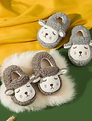 cheap -Boys' Girls' Infants' Slippers Animal Design Lamb Fur Cute Shoes Teenager Toddler(9m-4ys) Yellow Blushing Pink Grey Fall & Winter