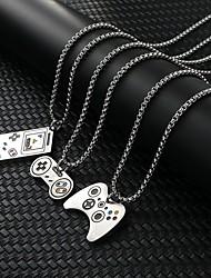 cheap -Men's Necklace Friends Romantic Vintage European Trendy Alloy Gray Silver White 70 cm Necklace Jewelry 1pc For Street Festival
