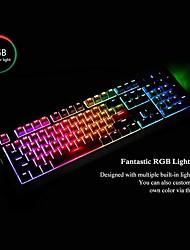 cheap -AJAZZ Ak510 USB Wired Mechanical Keyboard STANDARD FEATURES Mechanical Programmable RGB Backlit 104 pcs Keys