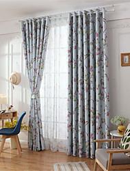 cheap -Window Drapes Curtain Window Treatments 2 Panels Room Darkening Floral Flower for Living Room Bedroom Patio Sliding Door