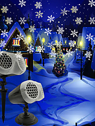 cheap -Snowflake Projector Light Ground Plug-in Vertical Dual-purpose Projection Lamp Snowflake Projection Lamp Halloween Christmas Decoration Lamp
