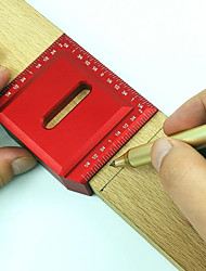 cheap -Half Angle and Right Angle Ruler Direct Scriber Woodworking Scriber Ruler Wood Measuring Tool Angle Ruler Scriber Ruler