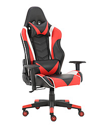 cheap -Gaming Chairs Office Swivel Chairs with headrest and Lumbar Pillow Red