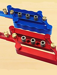 cheap -Woodworking Punch Locator Wood Tenon Punch Furniture Punch Hole Opener Woodworking Tool Set Punch Blue/Red