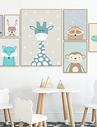 cheap -Wall Art Canvas Prints Painting Artwork Picture Animal Cartoon Nursery Home Decoration Decor Rolled Canvas No Frame Unframed Unstretched