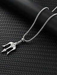 cheap -Men's Necklace Friends Romantic Vintage European Trendy Alloy Silver White 60 cm Necklace Jewelry 1pc For Street Festival