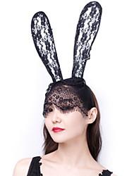 cheap -Nightclub Net Red Christmas Lace Veil Rabbit Ear Hair Hoop Party Headdress Dance Dress Headdress