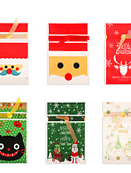 cheap -Foreign Trade Export Christmas Old Man Tree Drawstring Bag Snowflake Crisp Nougat Bundle Mouth Candy Gift Packaging Bag