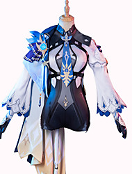 cheap -Inspired by Genshin Impact Cosplay Eula Anime Cosplay Costumes Japanese Cosplay Suits Outfits Top Waist Accessory Belt For Women's / Socks / Shorts / Hat / Hoodie Cloak / Bow Tie