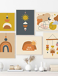 cheap -Morandi Style Wall Art Canvas Prints Painting Artwork Picture Abstract Cartoon Nursery Home Decoration Decor Rolled Canvas No Frame Unframed Unstretched