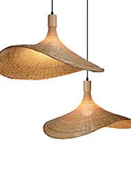 cheap -LED Pendant Light 40/50/60 cm Single Design Pendant Light Wood / Bamboo Vintage Style Painted Finishes Vintage Country 220-240V
