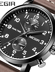 cheap -MEGIR Men's Dress Watch Analog Quartz Sporty Outdoor Calendar / date / day Chronograph Noctilucent