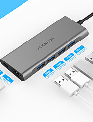 cheap -LENTION High Speed Support Power Delivery Function C35H USB 3.0 USB C to USB 3.0 HDMI PD 3.0 USB Hub 6 Ports For Windows, PC, Laptop