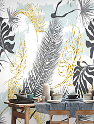 cheap -Mural Wall Stickers Wallpaper Covering Print Peel and Stick Self Adhesive Simple Leaves Plants Botanical PVC / Vinyl  Home Decor