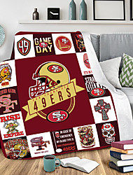 cheap -Digital Print Double Blanket flannel Blanket Nap Cover Blanket Air conditioning Blanket Ball Collection