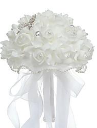 "cheap -Wedding Flowers Bouquets Wedding Bead / Foam 8.66""(Approx.22cm)"