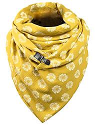 cheap -Women's Infinity Scarf Dailywear Yellow Scarf Floral