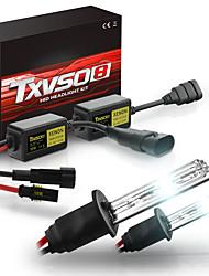 cheap -2pcs TXVSO8 55W 6000K HID Xenon Car Headlights  Bulbs Conversion Kit H1 H3 H4 H7 H8/H9/H11 9005 9006 880 9012 ERROR FREE with Ballast