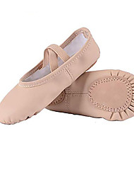 cheap -Girls' Ballet Shoes Practice Trainning Dance Shoes Sneaker Flat Heel Round Toe Almond Elastic Band Slip-on Children's Leatherette Loafers Comfort Shoes Ballerina / Performance