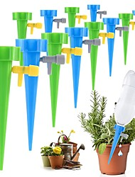 cheap -6 PCS Automatic Drip Irrigation Tool Spikes Adjustable Water Self-Watering Device Watering Spike System Self Drip Irrigation Device Kits Garden Houshold Bottle Valve for Plants Flower