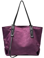 cheap -Women's Bags Canvas Top Handle Bag Zipper Daily Outdoor 2021 Canvas Bag Tote Black / White Blue Purple Khaki
