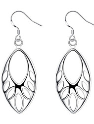 cheap -925 Silver Accessories European and American Creative Hollow Earrings Earhook Earrings Wholesale Suitable for Women's Fashion Summer