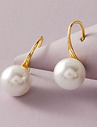cheap -Women's Earrings Classic Stylish Fashion Modern Korean Sweet Imitation Pearl Earrings Jewelry White For Party Evening Gift Formal Beach Festival 1 Pair