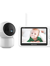 cheap -Factory Outlet Baby Monitor 200 mp Effective Pixels Dome Security Cameras 360 ° Viewing Angle 30 m Night Vision Range