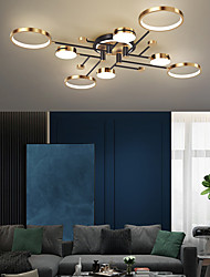 cheap -LED Ceiling Light 120 cm Circle Design Line Design Geometric Shapes Flush Mount Lights Acrylic Artistic Style Modern Style Linear Painted Finishes Modern Nordic Style 220-240V
