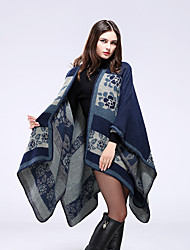 cheap -European and American imitation cashmere national wind flower scarf ladies autumn and winter style add thick warm cloak130x150CM
